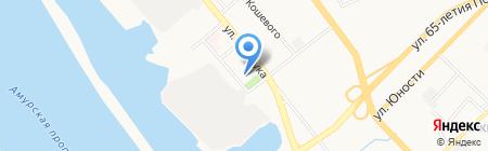 Хабаровский техникум водного транспорта на карте Хабаровска