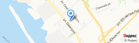 Восток-2 на карте Хабаровска