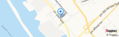 Рыбак на карте Хабаровска