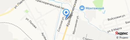 Средняя общеобразовательная школа №39 на карте Хабаровска