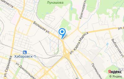 Местоположение на карте пункта техосмотра по адресу г Хабаровск, ул Пугачева