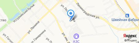 Три танкиста на карте Хабаровска