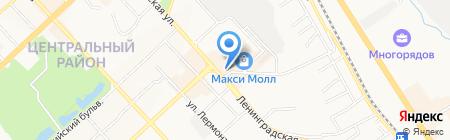 Киоск по продаже цветов на карте Хабаровска