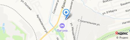 Основная общеобразовательная школа №7 на карте Хабаровска