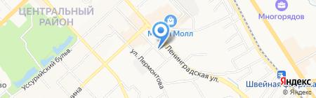 Управление энергообеспечения топлива инженерных коммуникаций на карте Хабаровска
