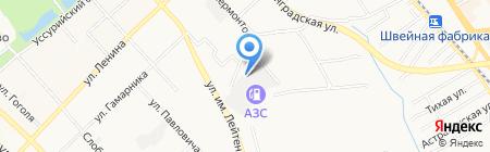 Грандлак на карте Хабаровска
