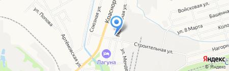 Баня на карте Хабаровска