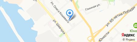 Автостоянка на ул. Олега Кошевого на карте Хабаровска