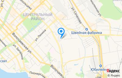 Местоположение на карте пункта техосмотра по адресу г Хабаровск, ул Лермонтова, д 3