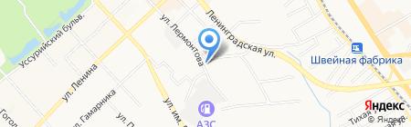 Рэу5 на карте Хабаровска