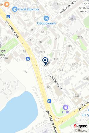 АЗС № 41 ТОРГОВАЯ КОМПАНИЯ ХАБАРОВСКНЕФТЕПРОДУКТ на карте Хабаровска