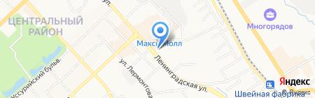 Мармарис на карте Хабаровска