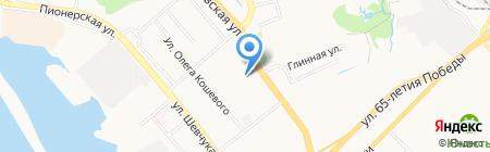 Далинь на карте Хабаровска