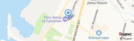 Золотая Антилопа на карте Хабаровска