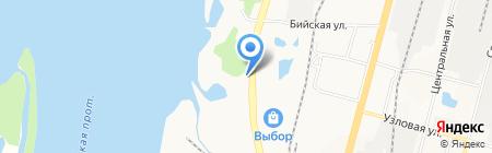На Львах на карте Хабаровска
