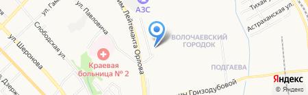 Автостоянка в Облачном переулке на карте Хабаровска