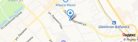 Киоск по продаже фруктов и овощей на карте Хабаровска