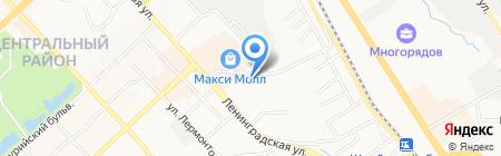 Медуница на карте Хабаровска
