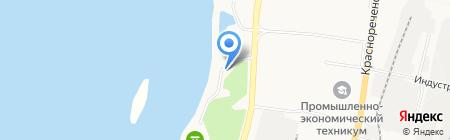 Арена на карте Хабаровска