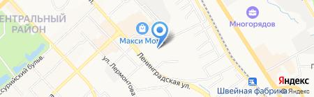 Домашний на карте Хабаровска