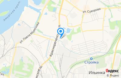 Местоположение на карте пункта техосмотра по адресу г Хабаровск, ул Монтажная, д 42