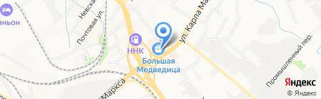 На Большой на карте Хабаровска