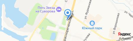 Сономед на карте Хабаровска