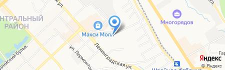 Дэнас-Восток на карте Хабаровска