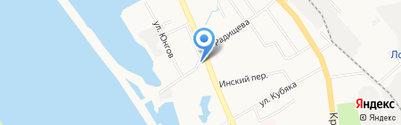 Белый бокс на карте Хабаровска