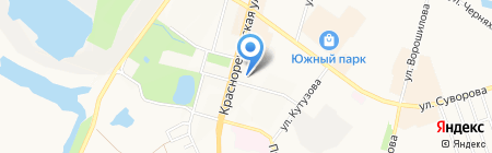 Восход на карте Хабаровска