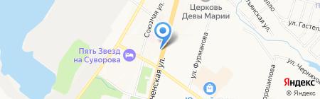 Парикмахерская на карте Хабаровска