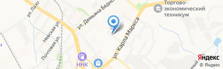 ХАМ на карте Хабаровска