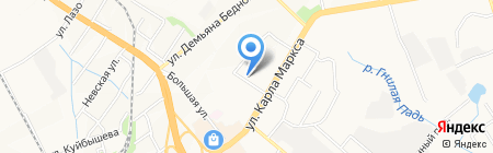 Серышевский на карте Хабаровска
