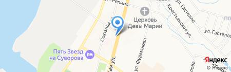Манон на карте Хабаровска
