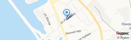 Служба эвакуации на карте Хабаровска