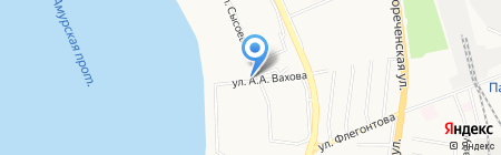 Магазин овощей и фруктов на карте Хабаровска