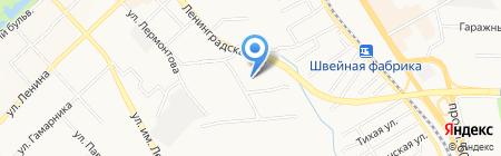 Славянка на карте Хабаровска