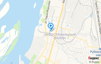 Местоположение на карте пункта техосмотра по адресу г Хабаровск, ул Морозова Павла Леонтьевича, д 56 литер к