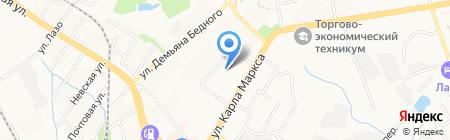 Фемина на карте Хабаровска