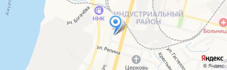 Вираж на карте Хабаровска