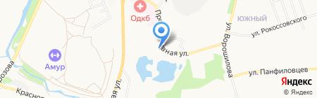 Шиномонтажная мастерская на Прогрессивной на карте Хабаровска