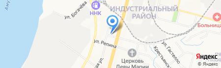 Магазин канцелярских товаров на карте Хабаровска