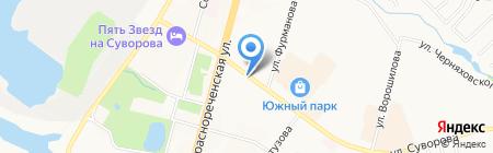 Скиф на карте Хабаровска