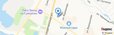 Алмаз на карте Хабаровска