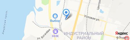 Континент-Тау на карте Хабаровска