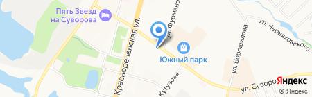 Славяночка на карте Хабаровска