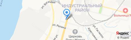 Лаки Стар на карте Хабаровска