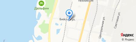 Продуктовый магазин на Бийской на карте Хабаровска