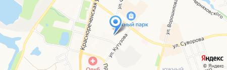 Деталь на карте Хабаровска