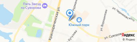 Вояж на карте Хабаровска